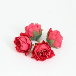 Artificial flower heads d-3cm 4pcs
