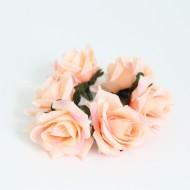 Artificial flower heads d-4cm 6pcs