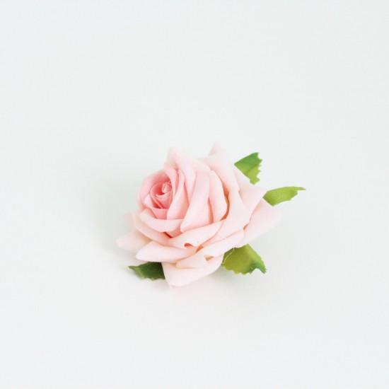 Artificial flower head d-5cm 1pcs, velvet