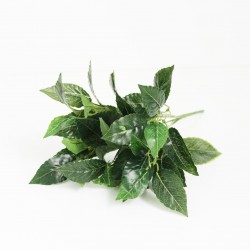 Artificial green leaves 34cm
