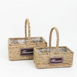 Basket set FLOWERS 2pcs