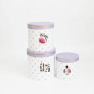 Flower box set 3pcs, violet