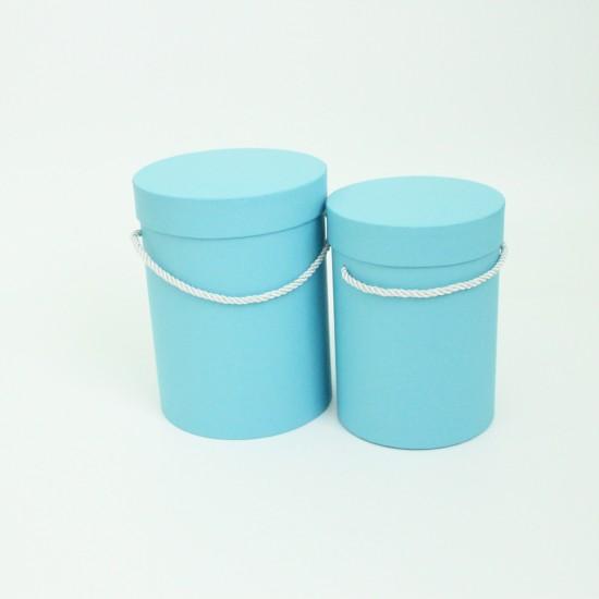 Flower boxes set 2pcs, blue