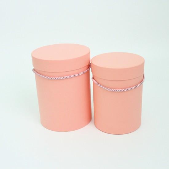 Flower boxes set 2pcs, pink