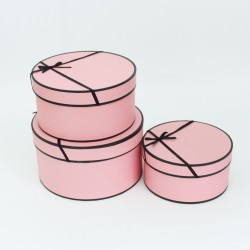 Flower box set 3pcs, pink