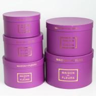 Flower boxes set MAISON des FLEURS 5pcs, dark violet