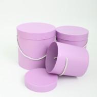 Flower boxes set 3pcs, violet