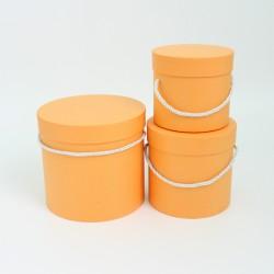 Flower boxes set 3pcs, orange