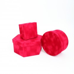 Velvet boxes mix shapes 3pcs