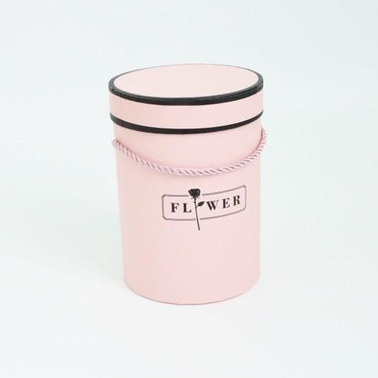 Flower box FLOWERS 1pcs, pink