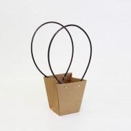 Flowers bag  8*12*12cm S size, kraft, 1pcs