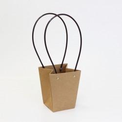 Flowers bag  9*13*15cm L size, kraft, 1pcs