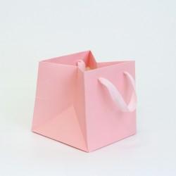 Paper gift bag 16*16*16cm 1pcs, pink
