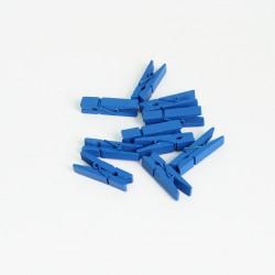DIY wooden pins 3,5cm 10pcs, blue