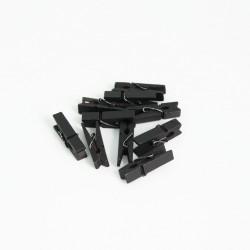 DIY wooden pins 3,5cm 10pcs, black