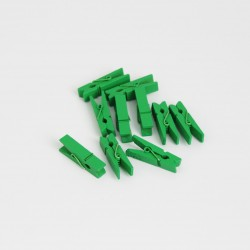 DIY wooden pins 3,5cm 10pcs, green