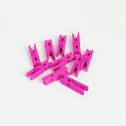 DIY wooden pins 3,5cm 10pcs, pink