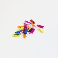 DIY wooden pins 2,5cm 25pcs , mix colors