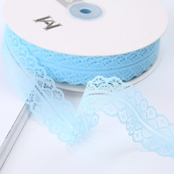 Lace ribbon 3cm/45m , light blue