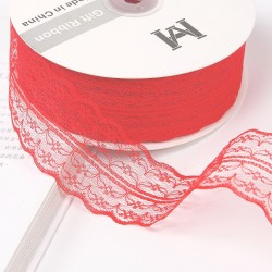 Lace ribbon 4,5cm/45m , red