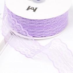 Lace ribbon 4,5cm/45m , lavender