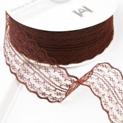 Lace ribbon 4,5cm/45m , brown