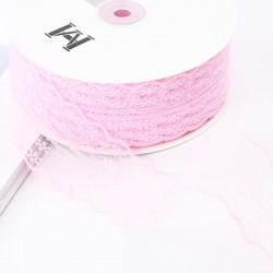 Lace ribbon 4,5cm/45m , pink
