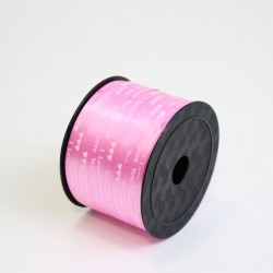 Polypropylene balloon curling ribbon I LOVE YOU 5mm/90m, pink