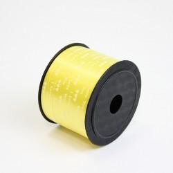 Polypropylene balloon curling ribbon I LOVE YOU 5mm/90m, yellow