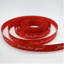 Printed ribbon JUST FOR YOU 1cm/40m
