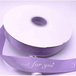 Printed ribbon JUST FOR YOU 2.5cm/40m