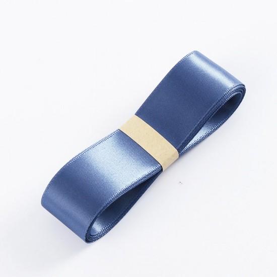 "Satin PREMIUM ribbon color ""blue smoke"" 2.5cm/40m"