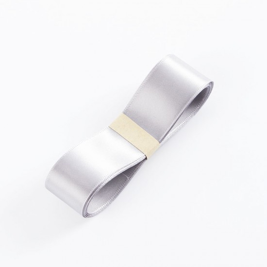 "Satin PREMIUM ribbon color ""grey"" 2.5cm/40m"