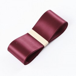 """Satin PREMIUM ribbon color """"wine"""" 3.8cm/45m"""