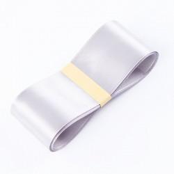 "Satin PREMIUM ribbon color ""grey"" 3.8cm/45m"
