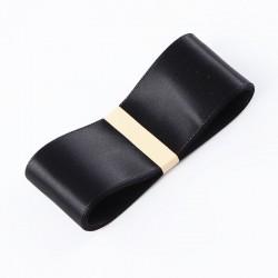 "Satin PREMIUM ribbon color ""black"" 3.8cm/45m"
