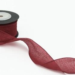 Ribbon WEDDING 4cm/25m, bordo