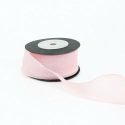 Ribbon WEDDING 4cm/25m, pink