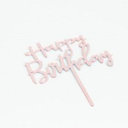 Acrylic topper HAPPY BIRTHDAY 1pcs