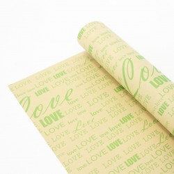 Wrapping paper LOVE 50x70cm 40pcs